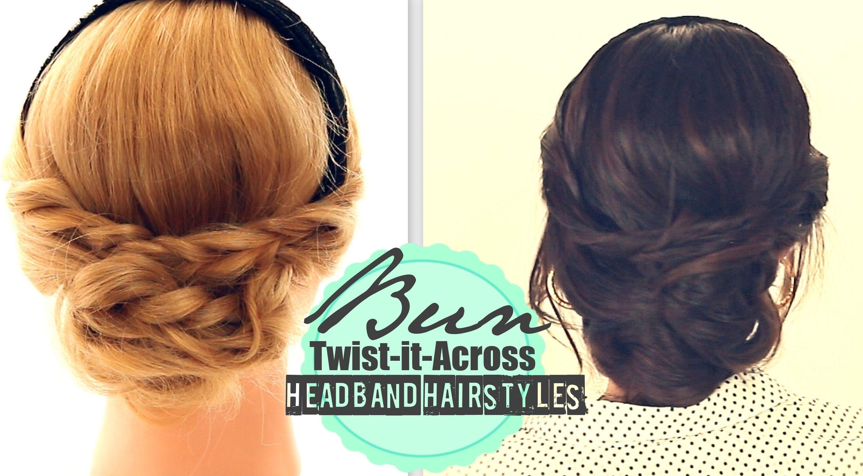 Elegant fall headband hairstyles effortless bun hair tutorial