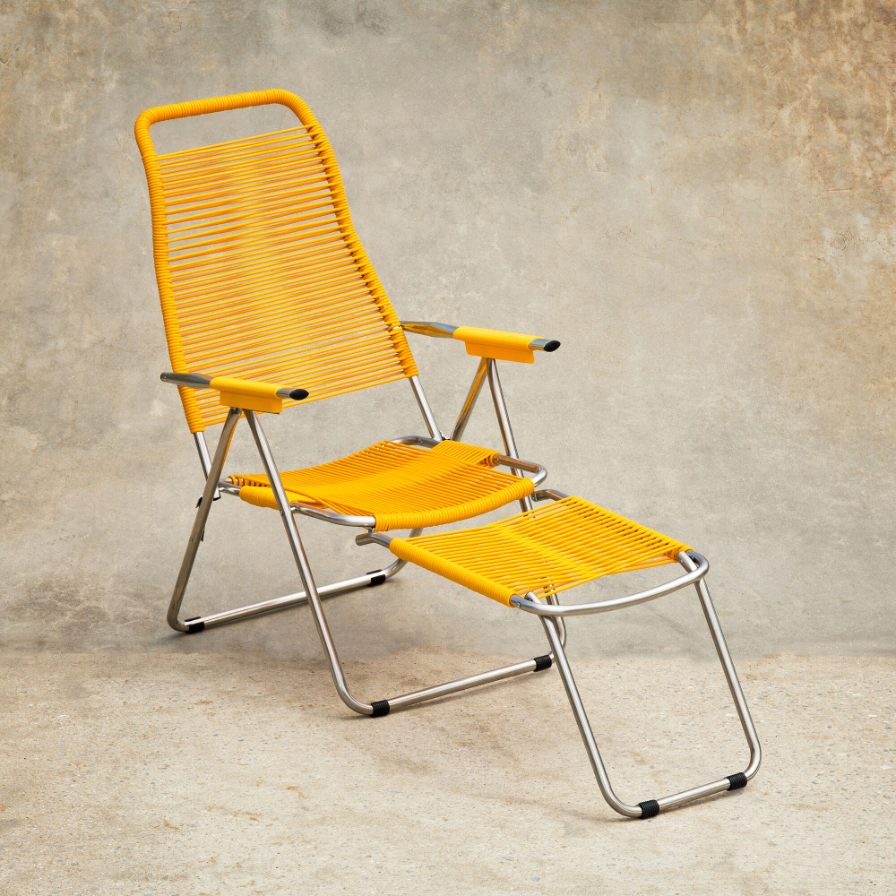 Spaghetti Outdoor Lounge Chair In Color Yellow Lounge Chair Outdoor Outdoor Lounge Outdoor