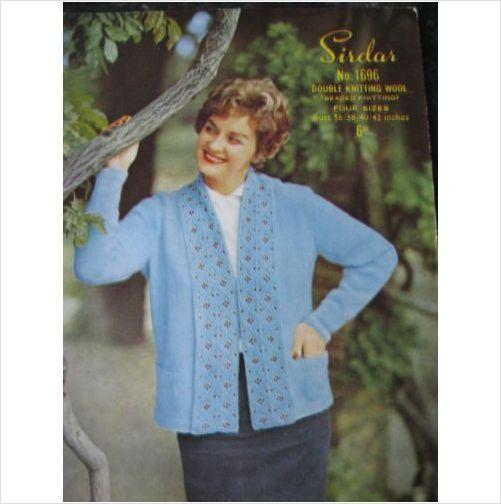 Vintage Sirdar Knitting Pattern 1696 Ladies Jacket 36 42 Ladies
