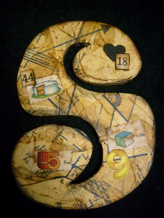 Folk Art Mixed Media With Images Letter Art Alphabet Art