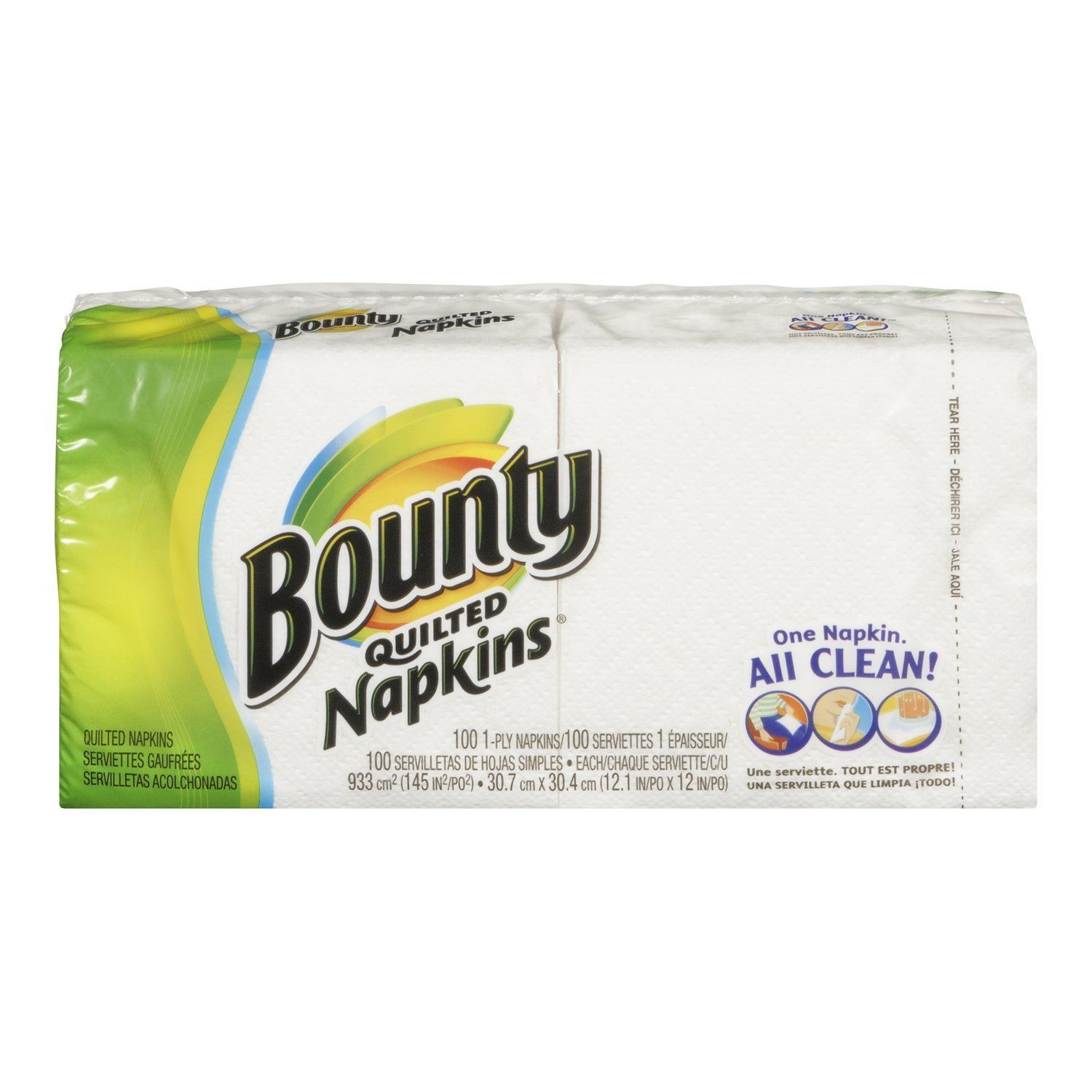 Bounty quilted napkins white 100count napkins pack of