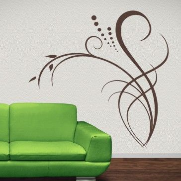 Floral Decor Flowers Wall Decal Wall Art Stickers