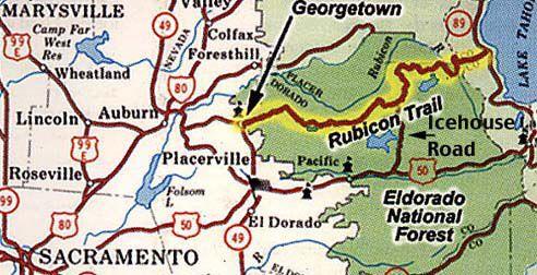 Rubicon Trail California Rubicon Trail Rubicon Jeep Trails