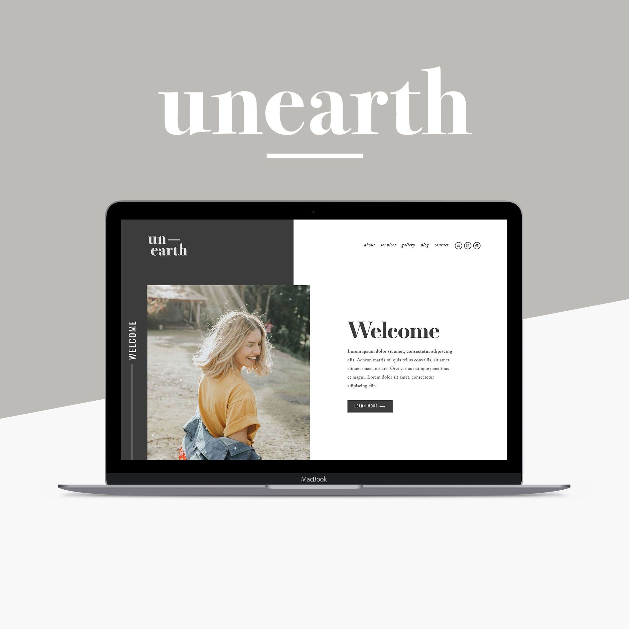 Unearth Squarespace Template Is A Modern And Artistic Website