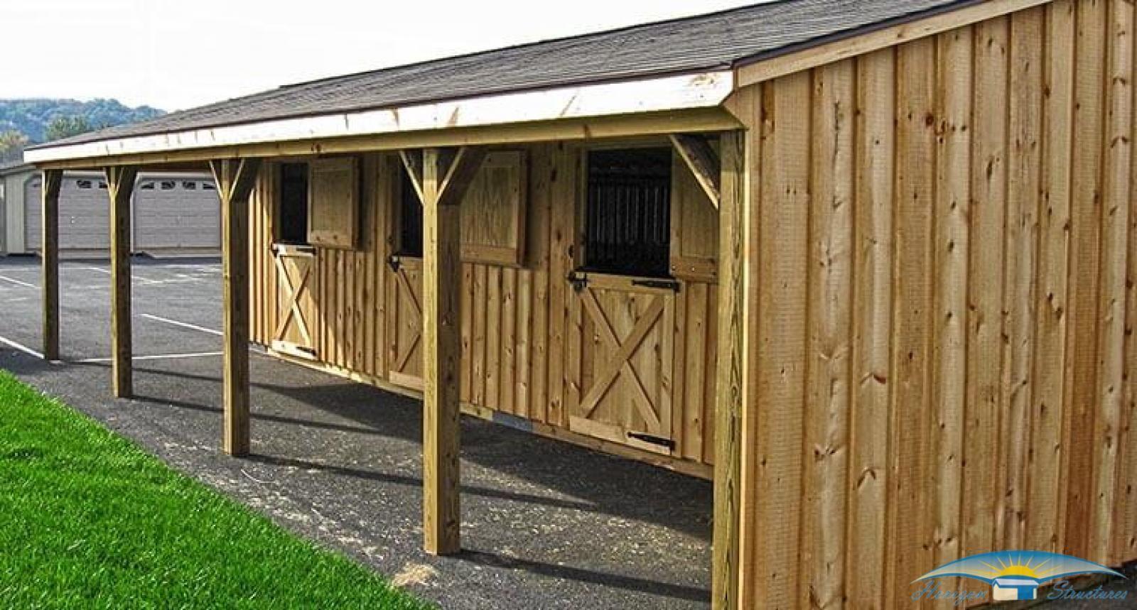 Shedrow Horse Barns Shed Row Barns Horizon Structures Garden