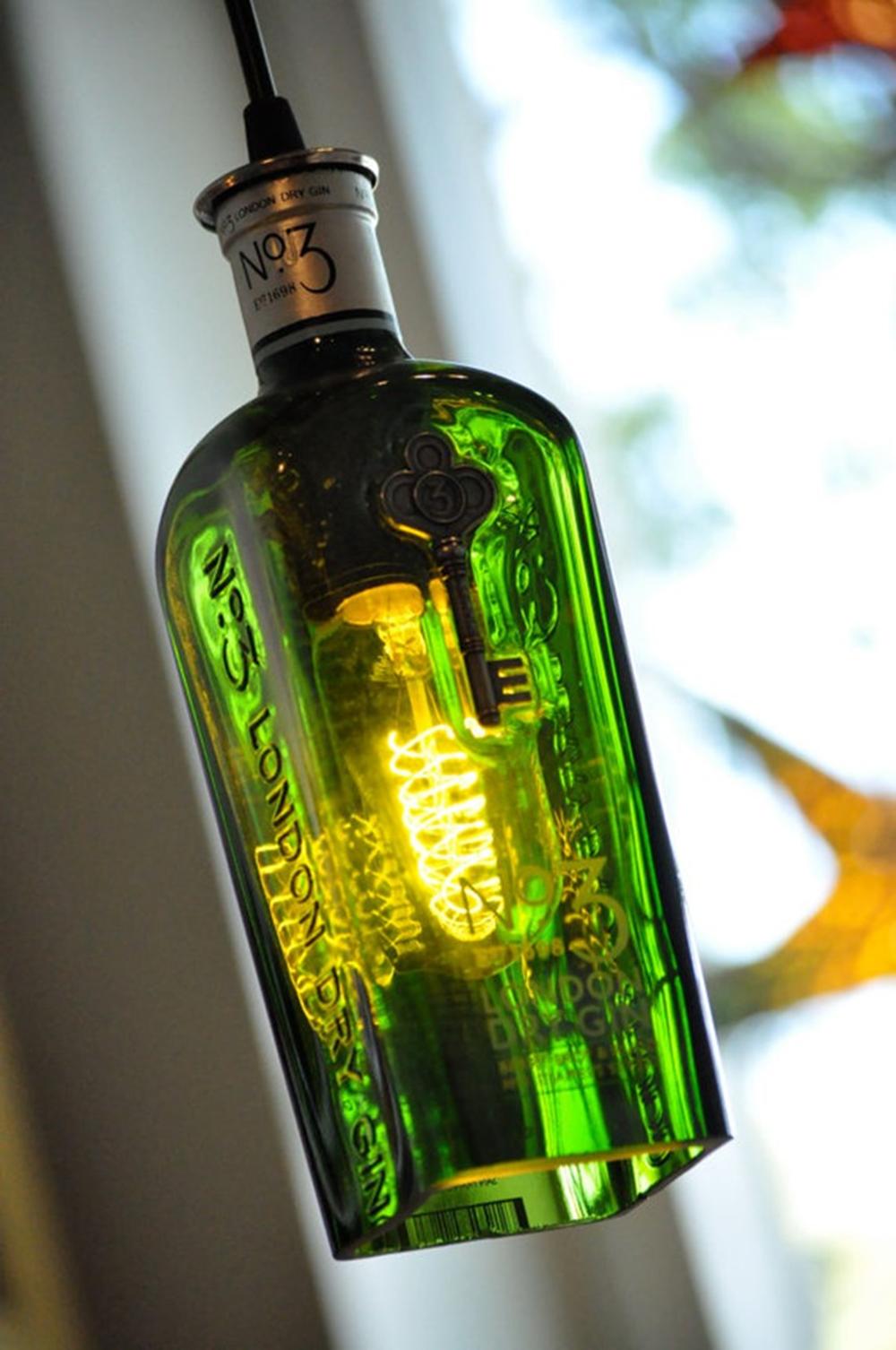 Recycled wine bottle liquor whiskey gin pendant lamp hanging bottle recycled wine bottle liquor whiskey gin pendant lamp hanging bottle hanging lamp bottle aloadofball Gallery