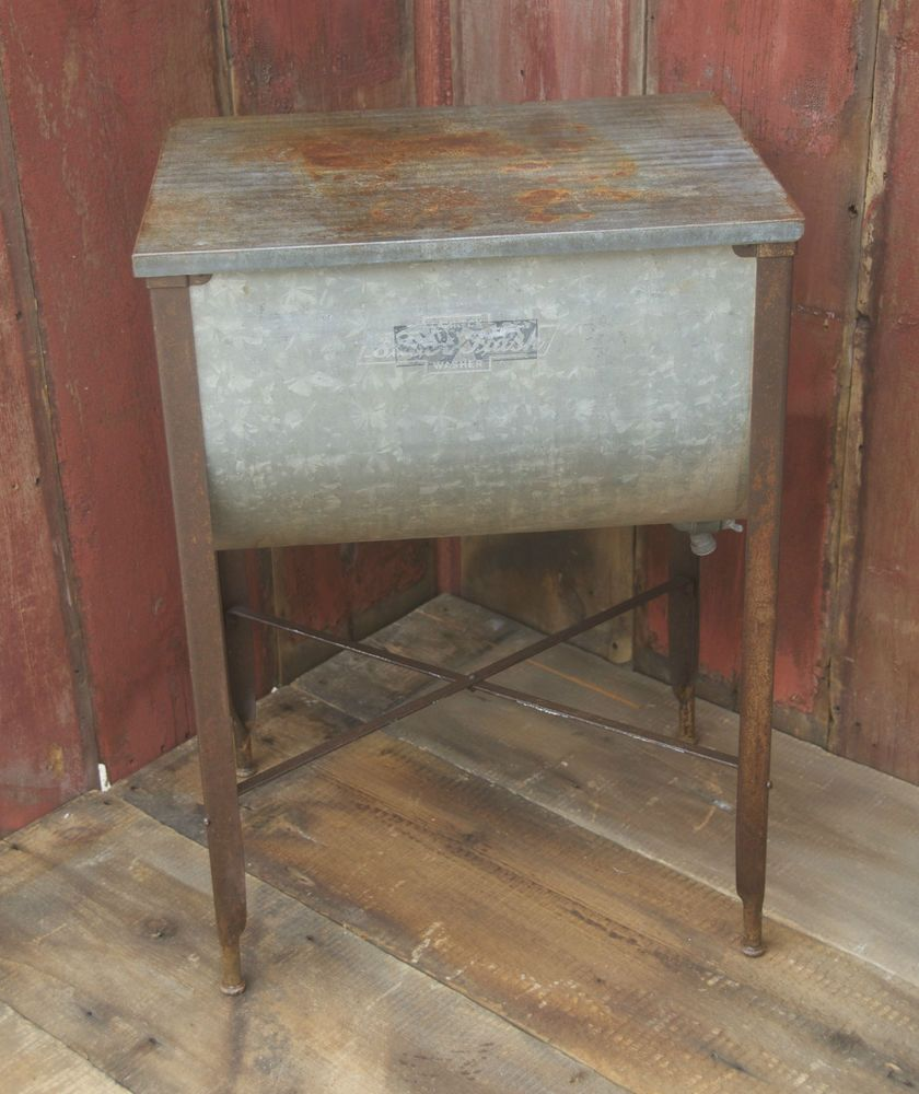 Antique Washtub Stand Suds Away Washtub With Lid Metal