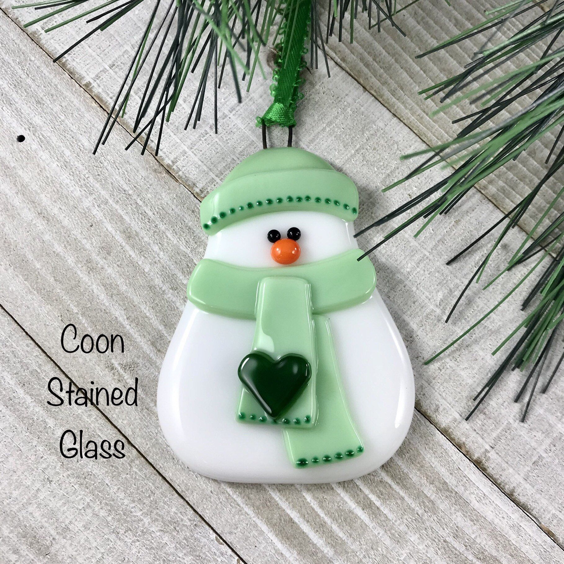 Pin On Fused Glass Snowmen