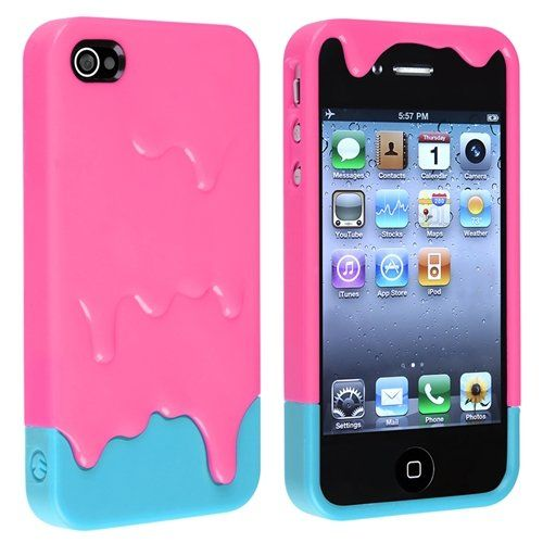Amazon.com: Pink 3d Melt Ice cream Skin Hard Case Cover for Apple Iphone 4 and 4s Protect Cell: Cell Phones & Accessories