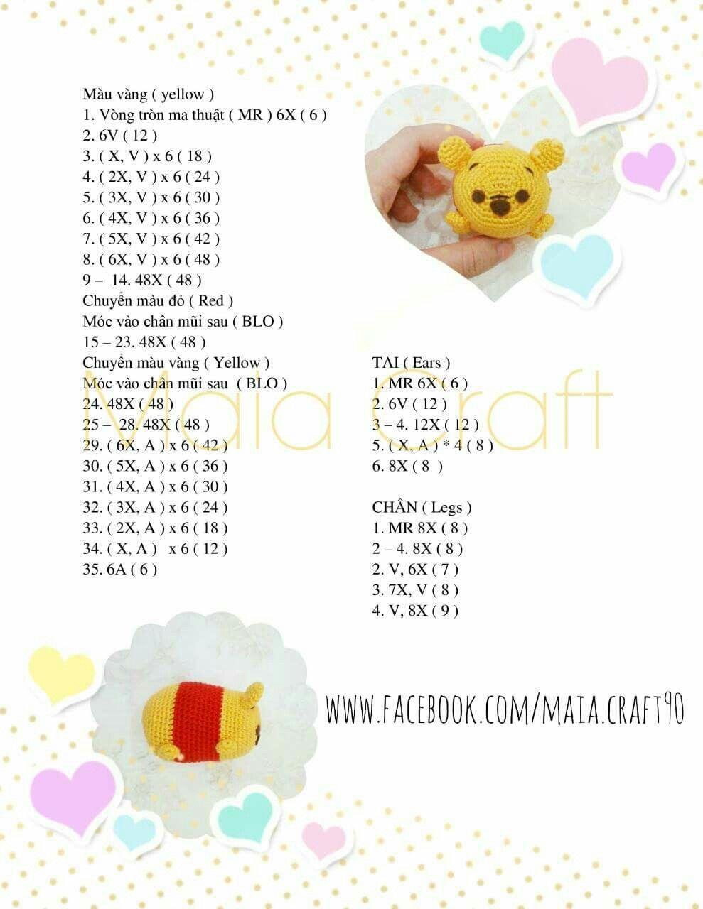 Winnie the pooh | moldes dibujos crochet | Pinterest | Patrones ...
