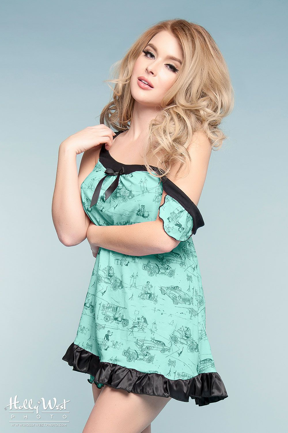 Cute vintage inspired two piece babydoll nightie set | Pinup Girl ...