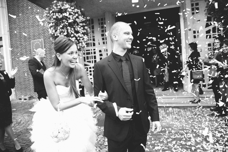 huwelijk bruiloft confetti