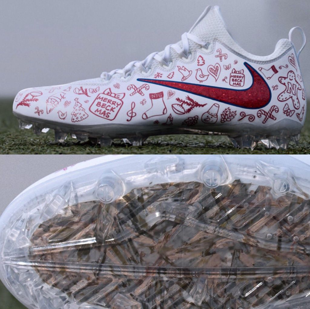 Here Are NFL Star Odell Beckham Jr.\'s Christmas-Themed Nike Cleats ...