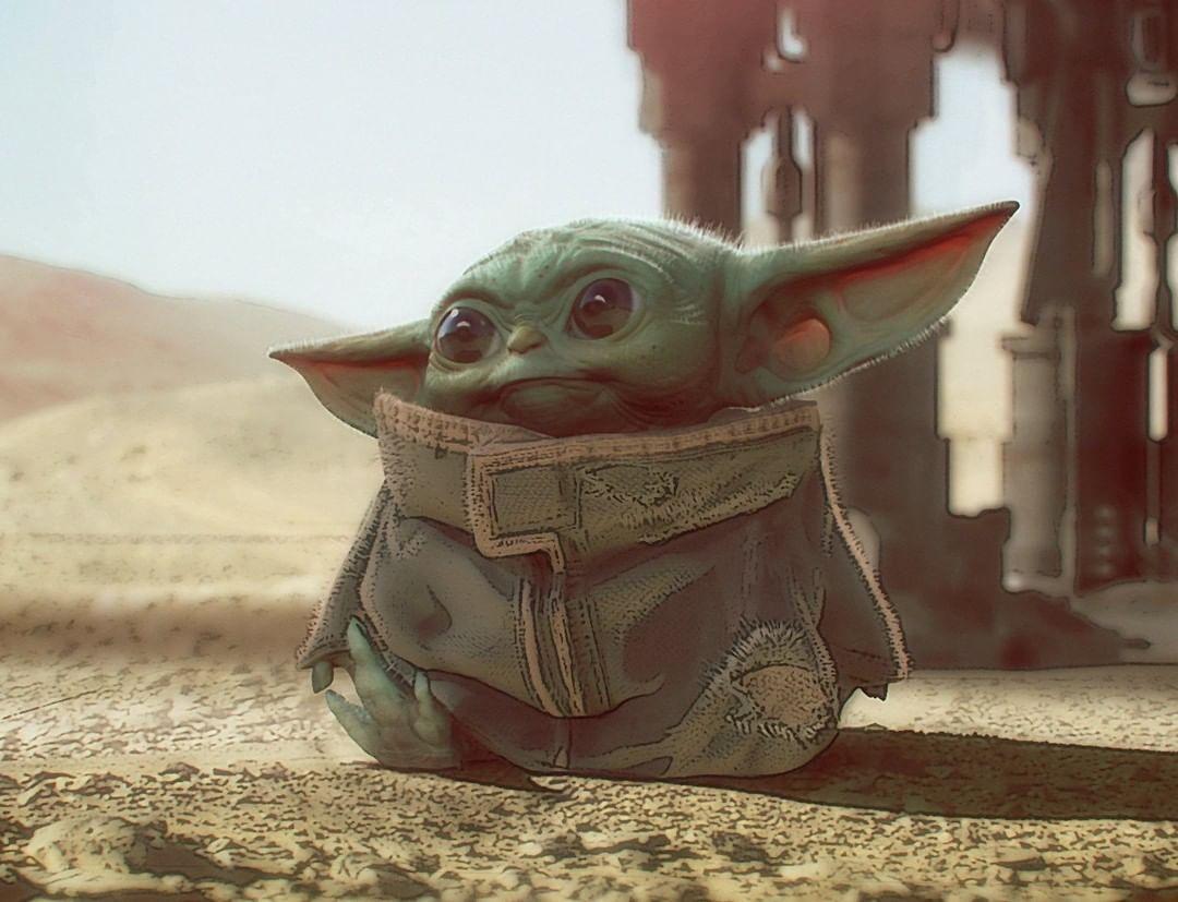 Themandalorian Creator Jonfavreau Shared The Original Concept Art For Babyyoda Yoda Wallpaper Yoda Art Star Wars Art