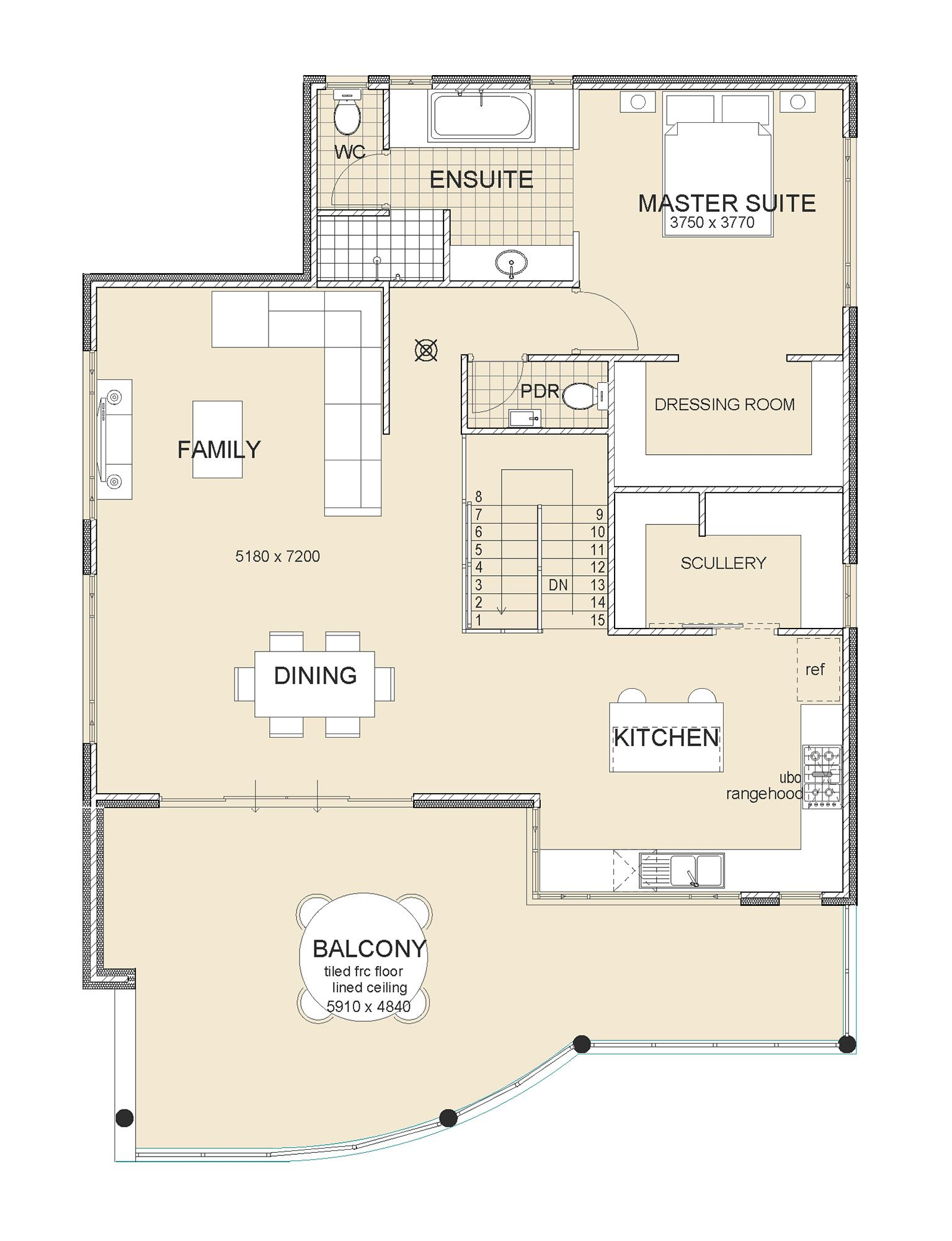 The Swanbourne House plans australia, Cottage floor