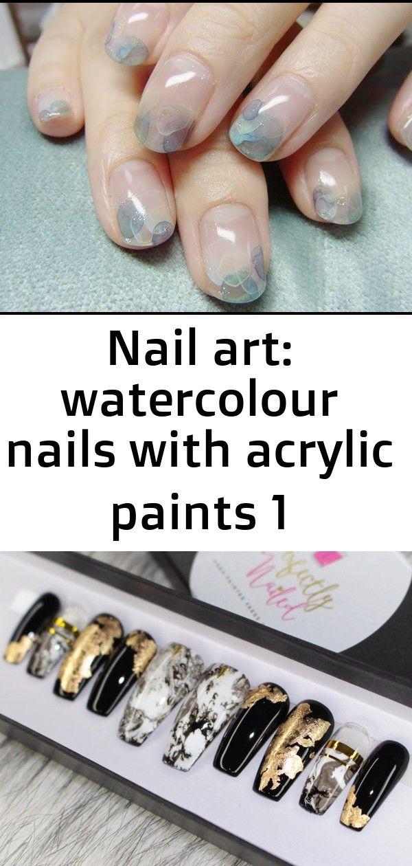 Nailart: Aquarellnägel mit Acrylfarben 1