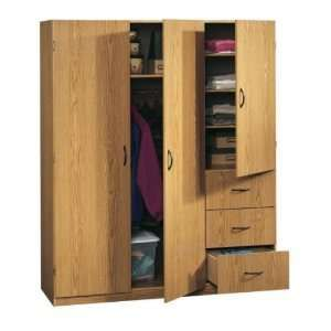 Large Storage Armoire Wardrobe Closet Oak Home U0026 Kitchen 40 Large .