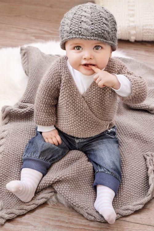 Eine Babyjacke, Mütze und Decke stricken #strickanleitungbaby