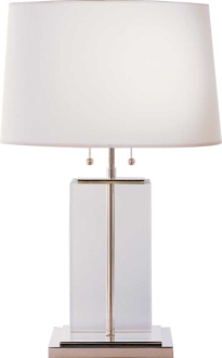 Large Crystal Block Table Lamp Circa Lighting Fifth