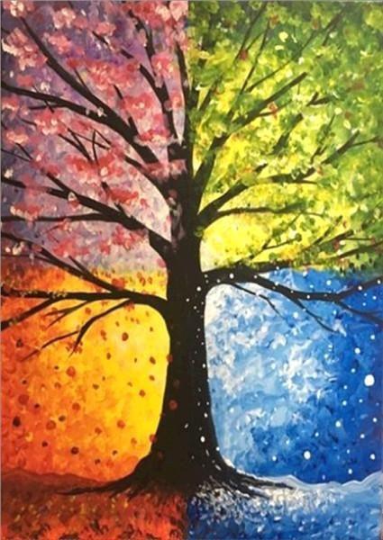 Color Tree New Diamond Painting Kit Diamond Paintings Diamond