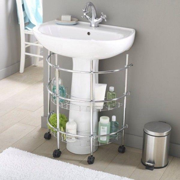 """12 indispensables """"gain de place"""" pour une petite salle de bains"""