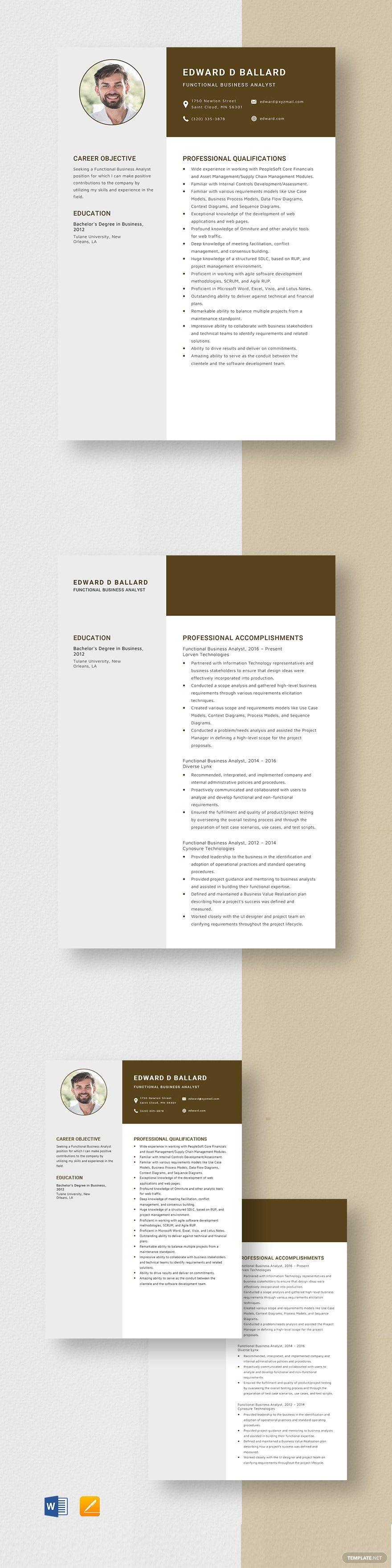 Modern resume template microsoft word free Resume
