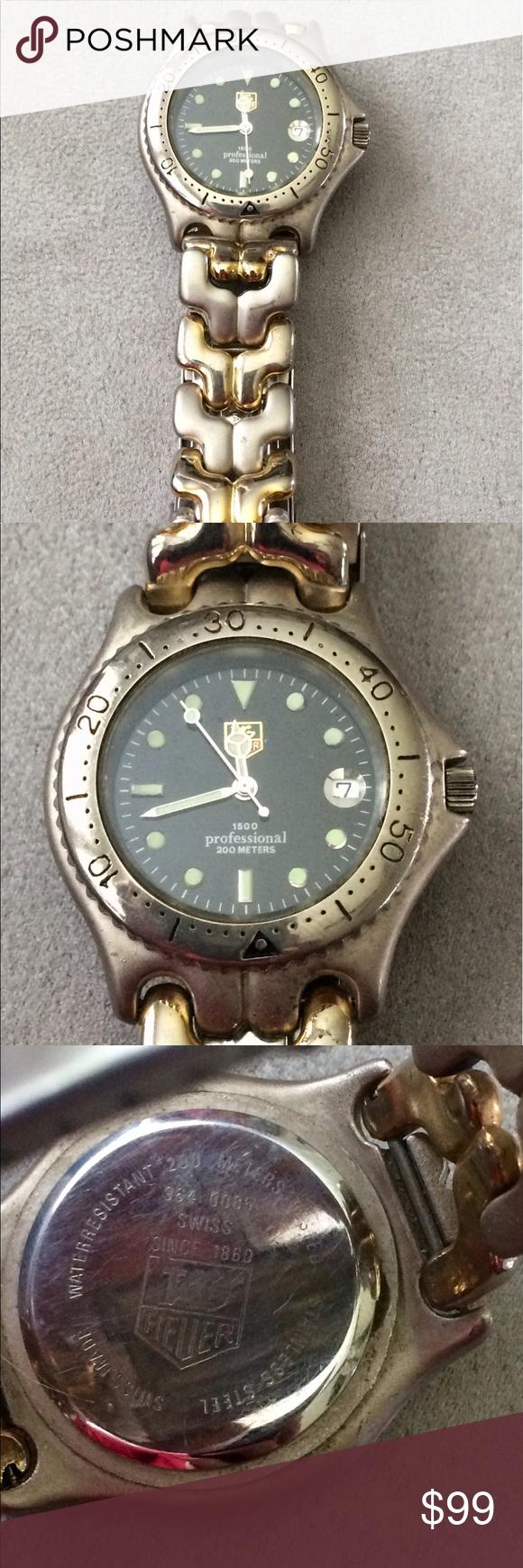 Vintage Tag Heuer Watch 1500 Professional Vintage 1500 ...