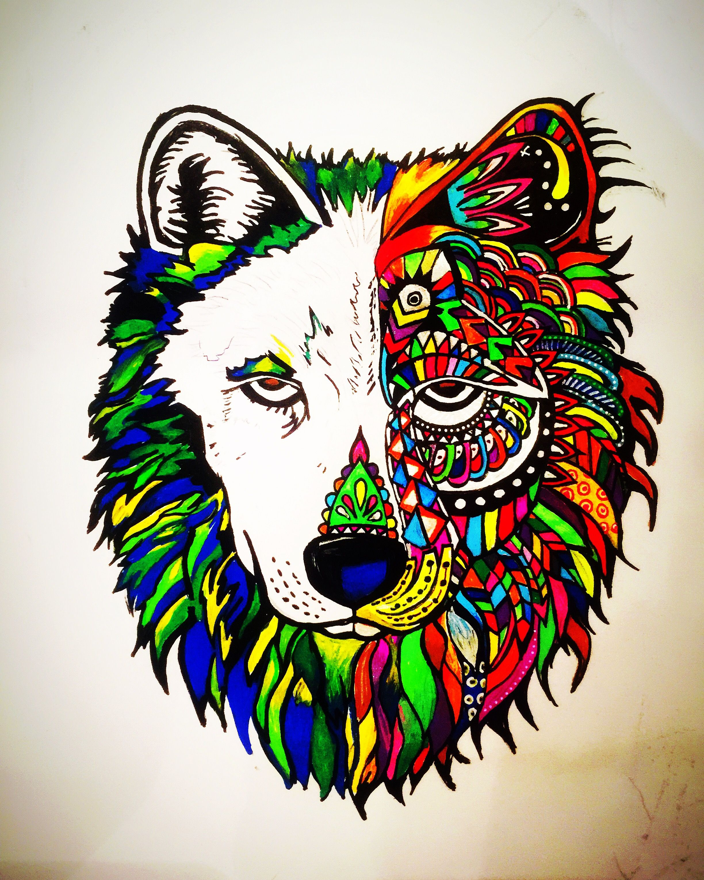 Fine Coloriage Mandala Loup Lune Pictures - Coloring Pages Of ...
