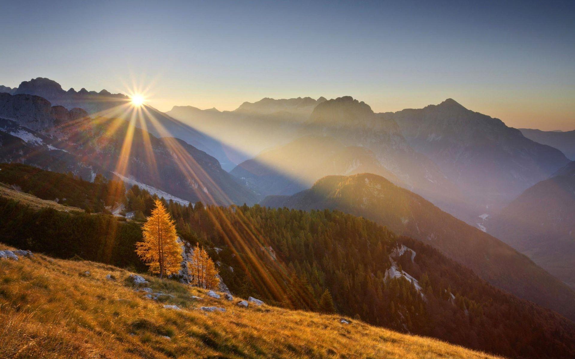 sunrise over mountains wallpaper 3437 Mountain wallpaper