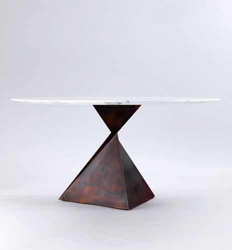 The Ava Is A Custom Made, Small Dining Table Featuring A Slice A Ingenious  Visual Trickery.
