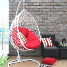 Oval Egg Hanging Patio Lounge Chair Porch Swing With Stand