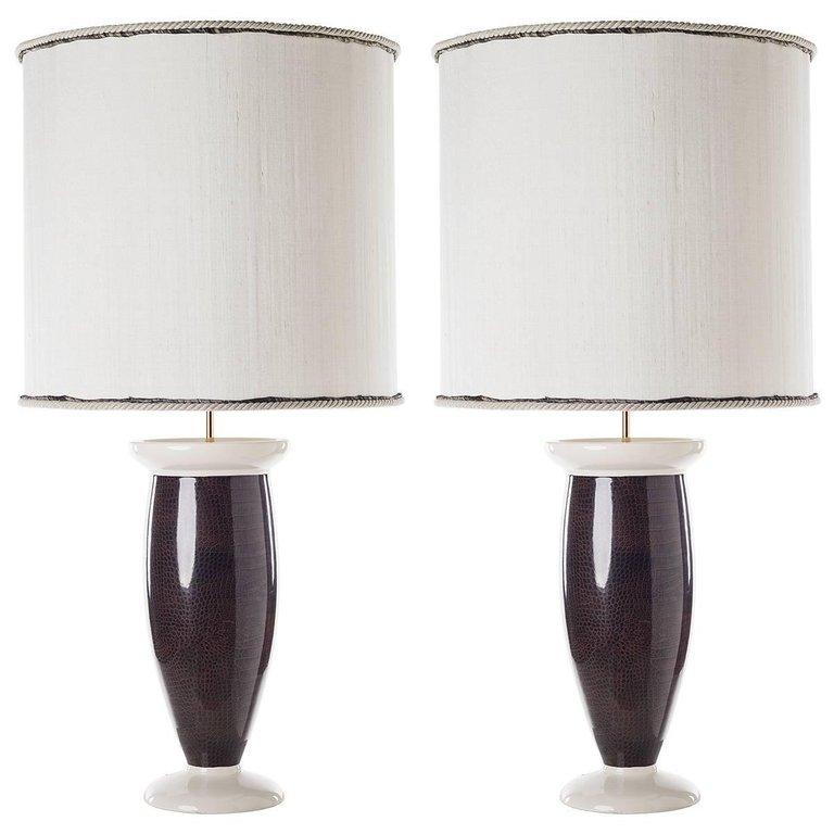 Contemporary Table Lamps Crocodile Skin Design Table Lamp Contemporary Table Lamps Contemporary