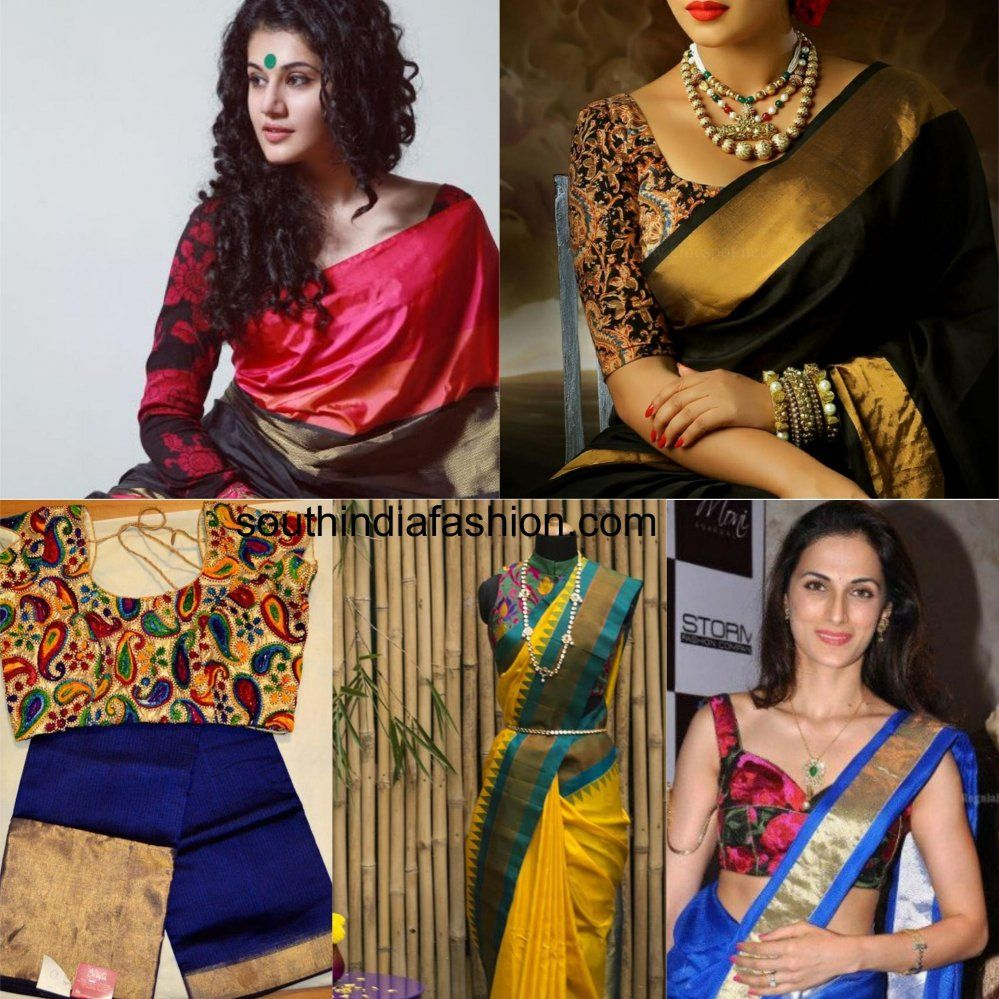 684d1b305bd8e7 Printed Blouses For Your Kanjeevaram Sarees