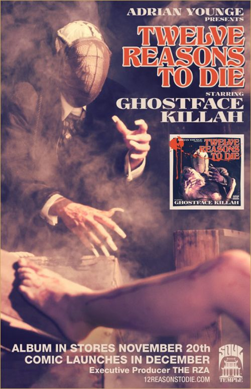 Ghostface Killah Announces 12 Reasons To Die