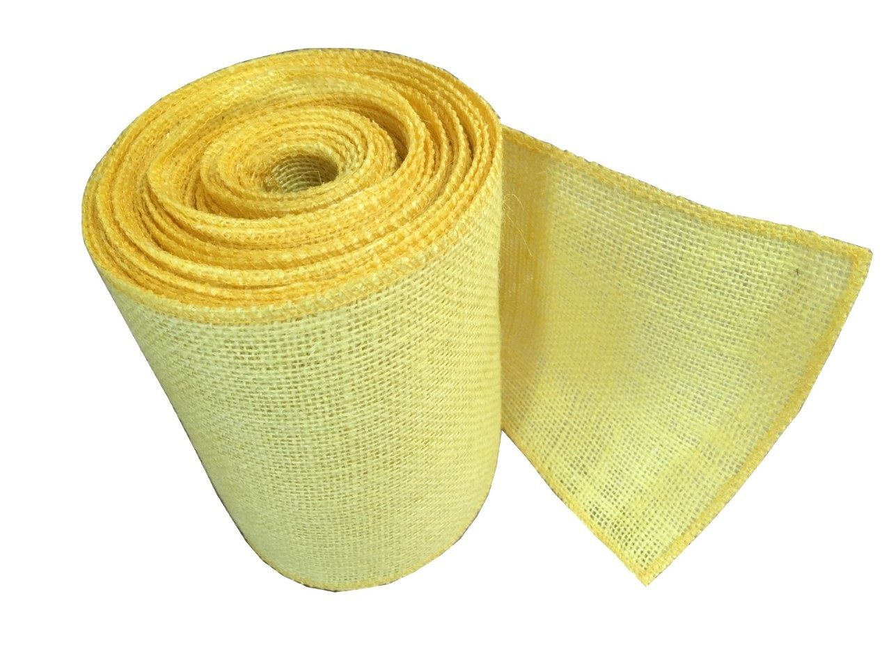 6 Yellow Burlap Ribbon 10 Yards Serged Burlap Ribbon Burlap Beach Bag