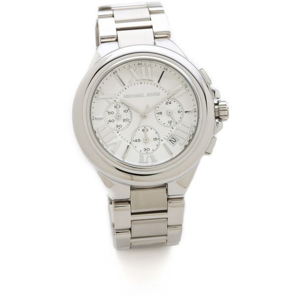Michael Kors Camille Chronograph Watch ($225) ❤ liked on Polyvore