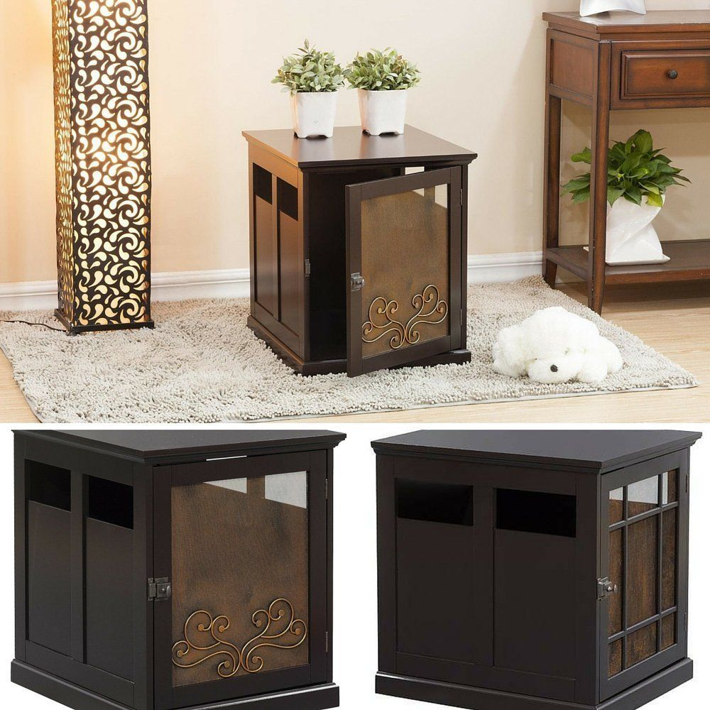 designer dog crate furniture ruffhaus luxury wooden. Decorative Dog Crate,Dog Crate Furniture,Wooden End Table,Luxury Pet Furniture And EBOOK AWESOME HOME DECOR IDEAS. *** Wow! I Love This. Designer Ruffhaus Luxury Wooden E
