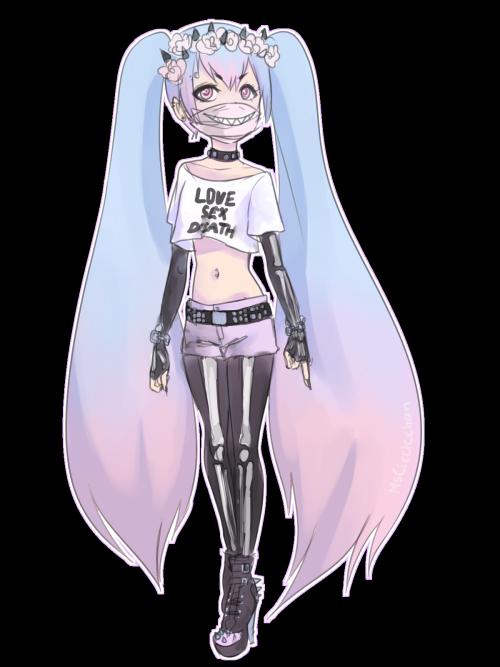 "yoursempai "" Miku, the pastel goth diva (ノ ヮ )ノ*・゚"