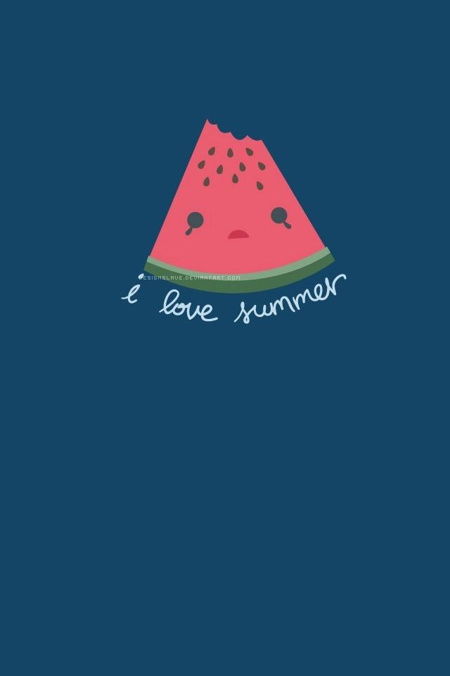 I love summer, watermelon printable Wallpaper iphone