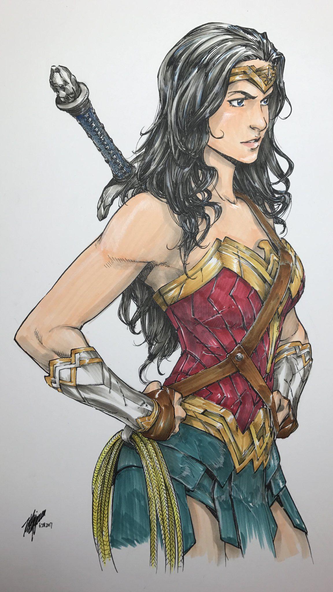 Wonder Woman Illustration By Takeshi Miyazawa Wonder Woman