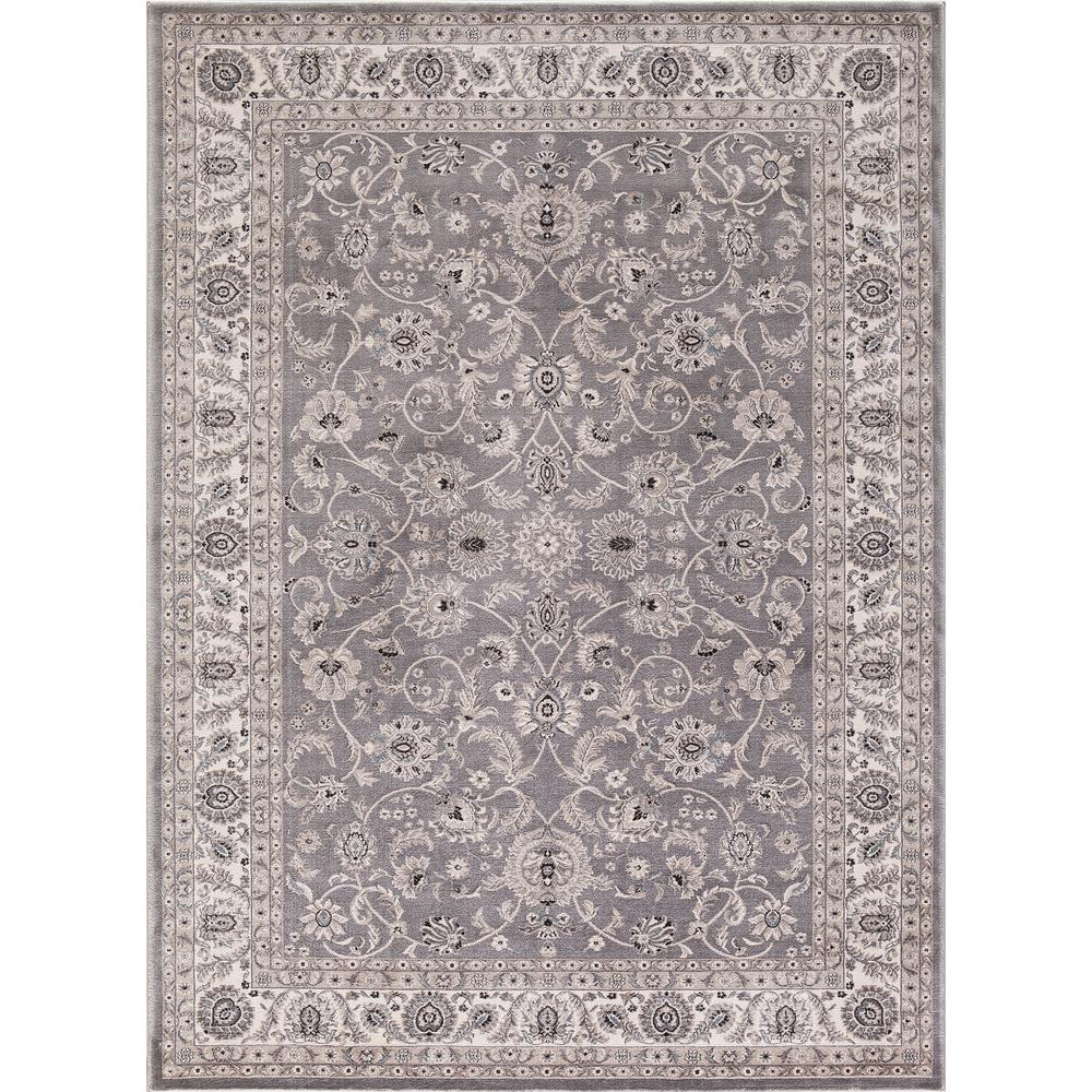 Concord Global Trading Kashan Collection Bergama Gray Rectangle Indoor 9 Ft 3 In X 12 Ft 6 In Area Rug 28168 Area Rugs Rugs Colorful Rugs