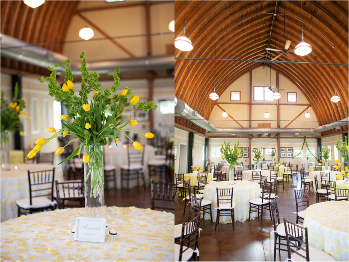 Yellow Floral Table Scape Inspiration WinstonSalem NC Wedding