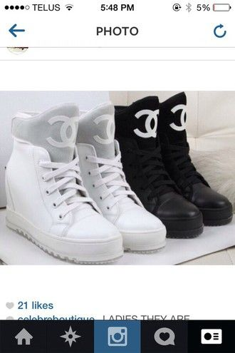shoes chanel shoes dope black white sneakers   shoes   Pinterest 7eabb465b37