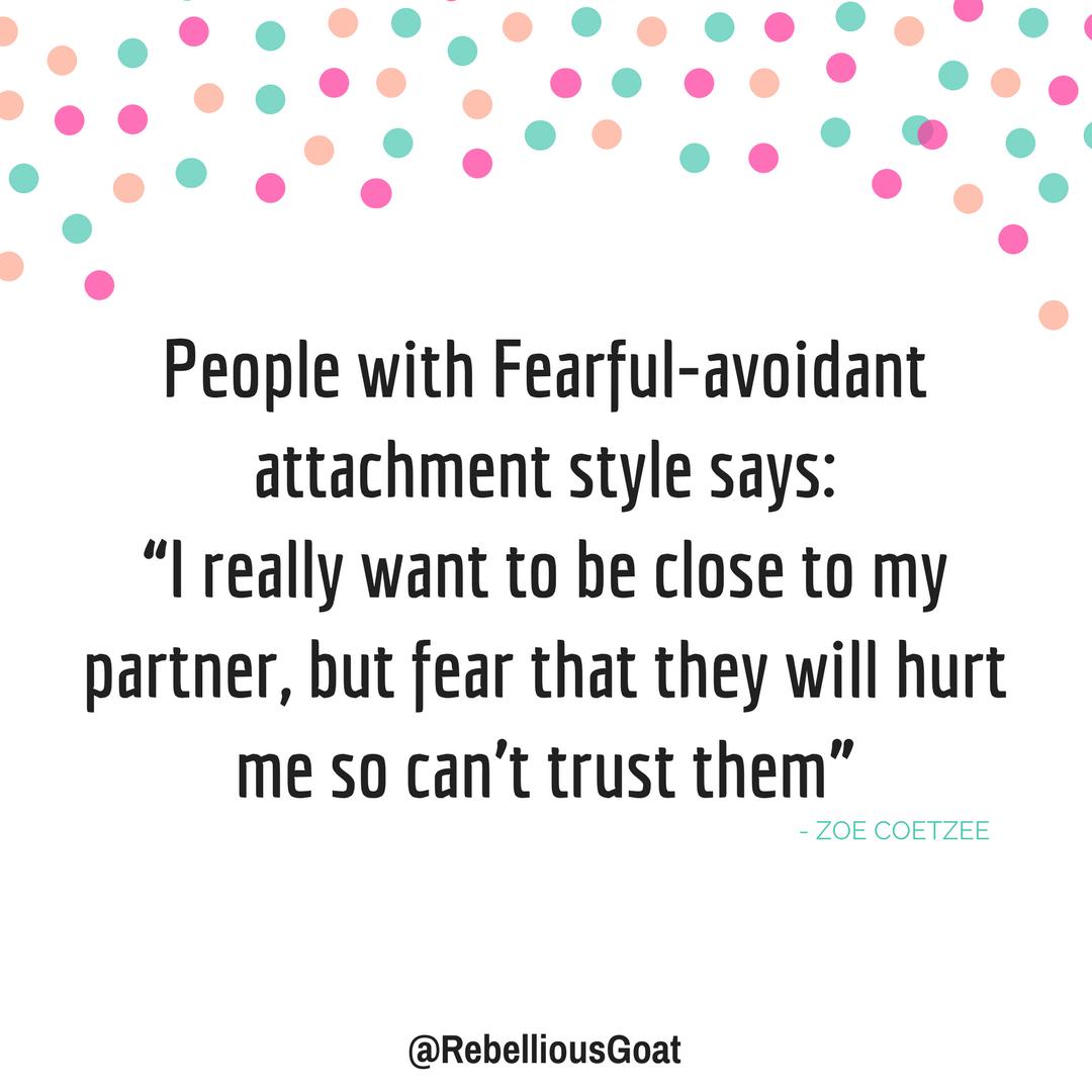 Relationships fearful avoidant Understanding Fearful