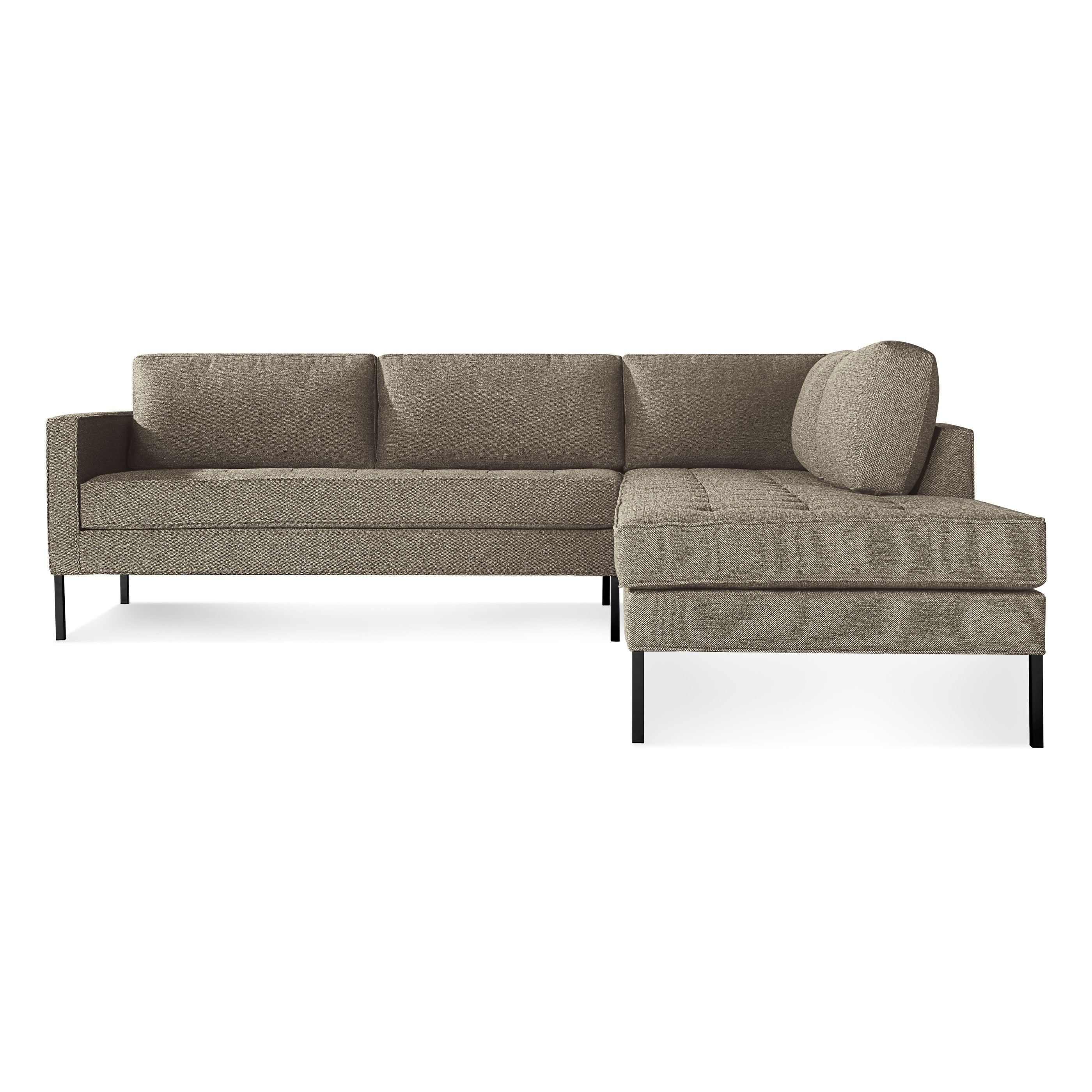 Bludot Black Metal Legs Dary Grey Upholstery 3 598 Without Discount Could Definitely Meet Lead Times Sectional Sofa