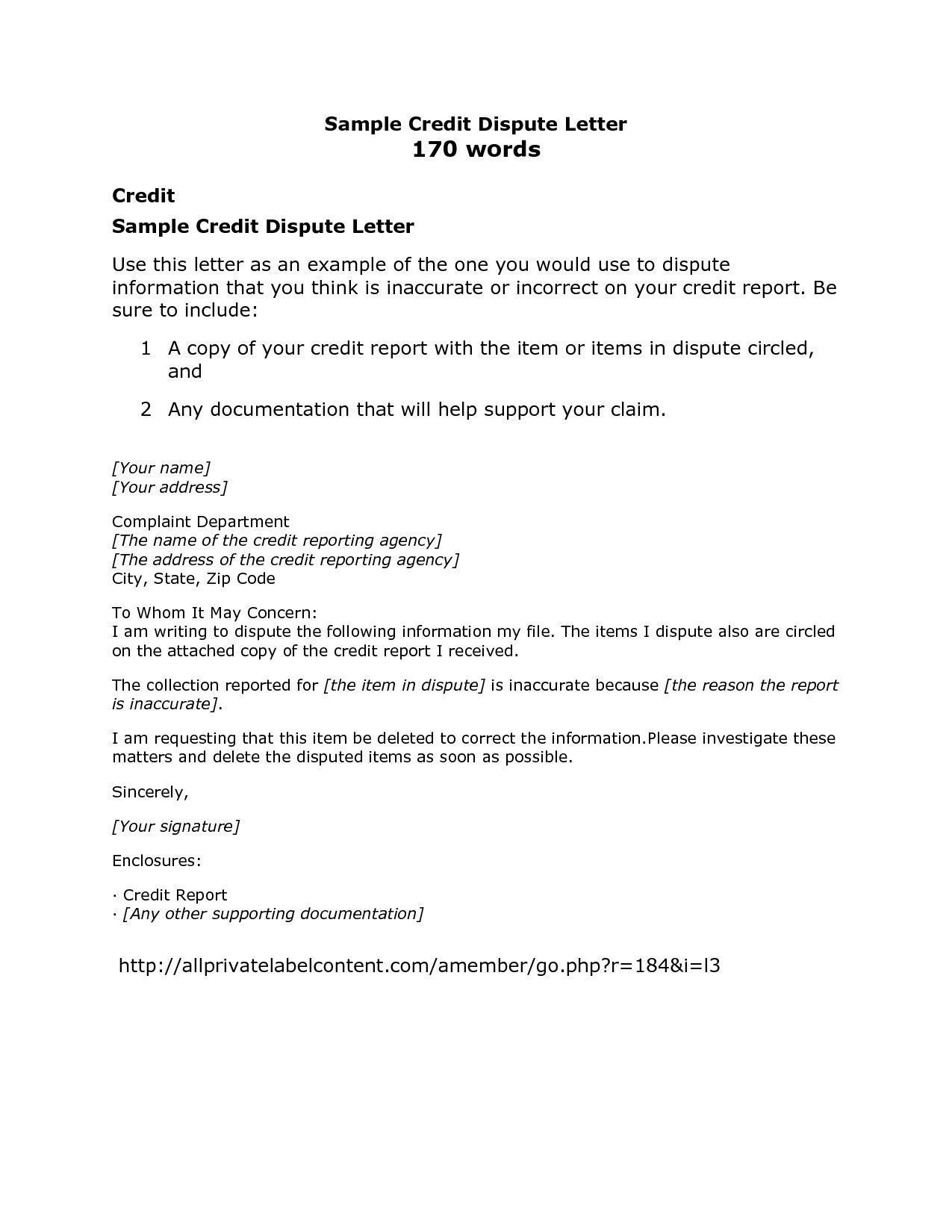 Pay For Delete Letter Sample