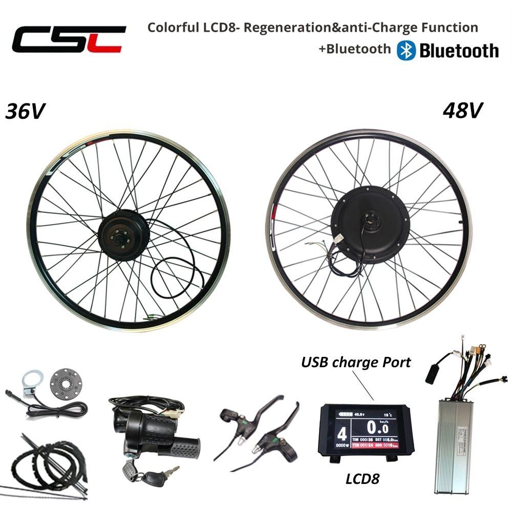 """Electric Bike Conversion Kit 250W 1000W 1500W 20/"""" 26/"""" 28/"""" Wheel  Hub Motor Kit"""