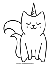 Caticorn Unicorn Coloring Pages Free Kids Coloring Pages Coloring Pages