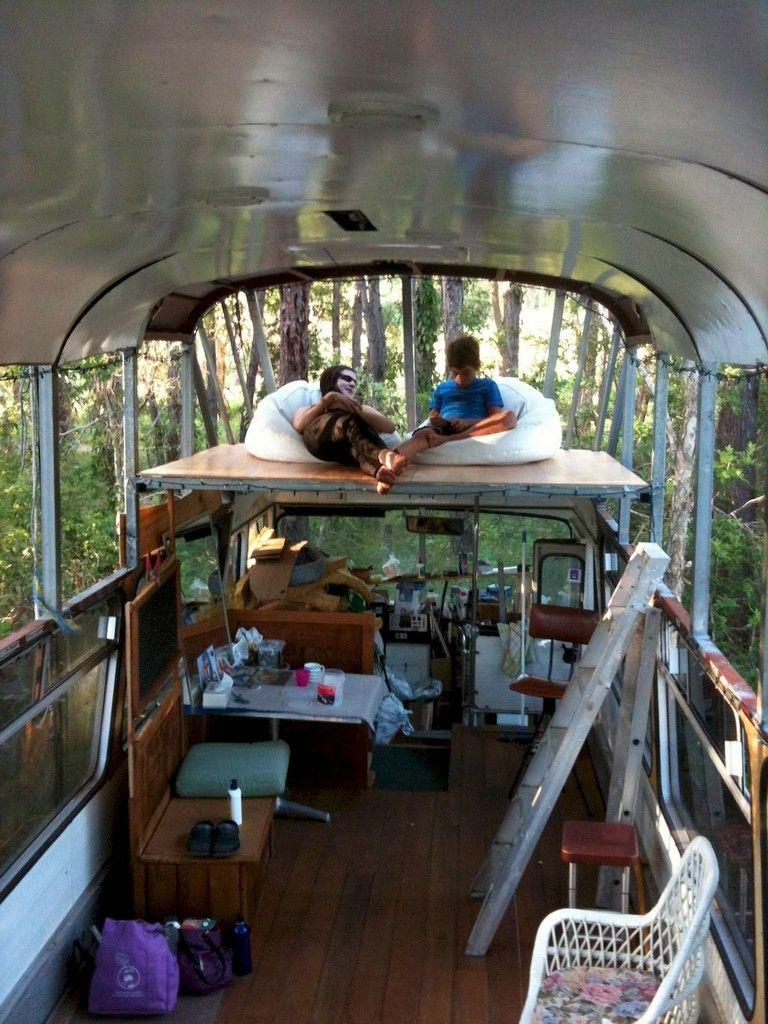16 Tiny House Interior Design Ideas: 50 Beautiful Tiny House Bus Interior Design And Decorating Ideas