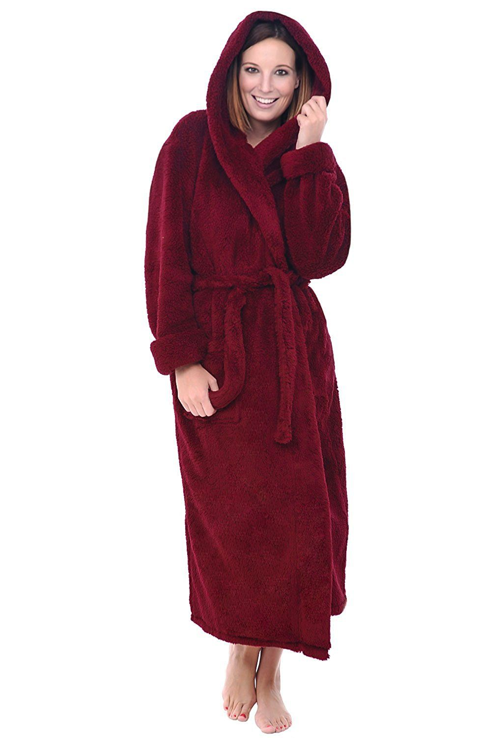 Alexander Del Rossa Womens Fleece Robe c8fa9666a